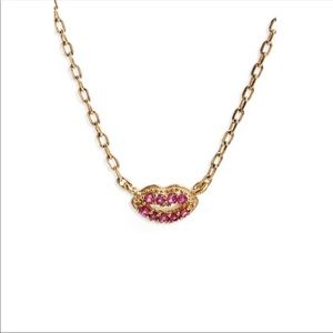 Marc Jacobs Lips Pendant Necklace